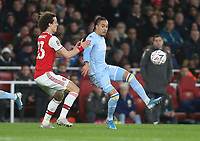 Leeds United's Helder Costa and Arsenal's David Luiz<br /> <br /> Photographer Rob Newell/CameraSport<br /> <br /> Emirates FA Cup Third Round - Arsenal v Leeds United - Monday 6th January 2020 - The Emirates Stadium - London<br />  <br /> World Copyright © 2020 CameraSport. All rights reserved. 43 Linden Ave. Countesthorpe. Leicester. England. LE8 5PG - Tel: +44 (0) 116 277 4147 - admin@camerasport.com - www.camerasport.com