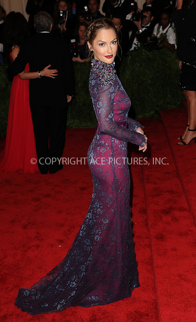 WWW.ACEPIXS.COM....May 6 2013, New York City....Minka Kelly arriving at the Costume Institute Gala for the 'PUNK: Chaos to Couture' exhibition at the Metropolitan Museum of Art on May 6, 2013 in New York City.....By Line: Kristin Callahan/ACE Pictures......ACE Pictures, Inc...tel: 646 769 0430..Email: info@acepixs.com..www.acepixs.com