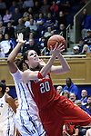 28 November 2014: Stony Brook's Brittany Snow. The Duke University Blue Devils hosted the Stony Brook University Seahawks at Cameron Indoor Stadium in Durham, North Carolina in a 2014-15 NCAA Division I Women's Basketball game. Duke won the game 72-42.