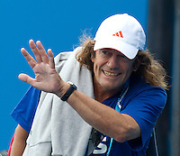 JACK READER (AUS) - Alexandr Dolgopolov's coach at Melbourne Park...20/01/2012, 20th January 2012, 20.01.2012..The Australian Open, Melbourne Park, Melbourne,Victoria, Australia.@AMN IMAGES, Frey, Advantage Media Network, 30, Cleveland Street, London, W1T 4JD .Tel - +44 208 947 0100..email - mfrey@advantagemedianet.com..www.amnimages.photoshelter.com.