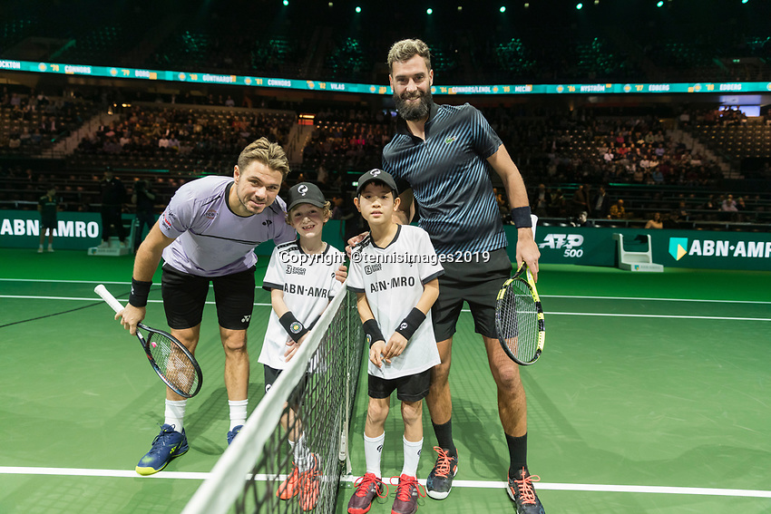 Rotterdam, The Netherlands, 11 Februari 2019, ABNAMRO World Tennis Tournament, Ahoy, Press Conference, first round: Benoit Paire (FRA) - Stan Wawrinka (SUI),<br /> Photo: www.tennisimages.com/Henk Koster