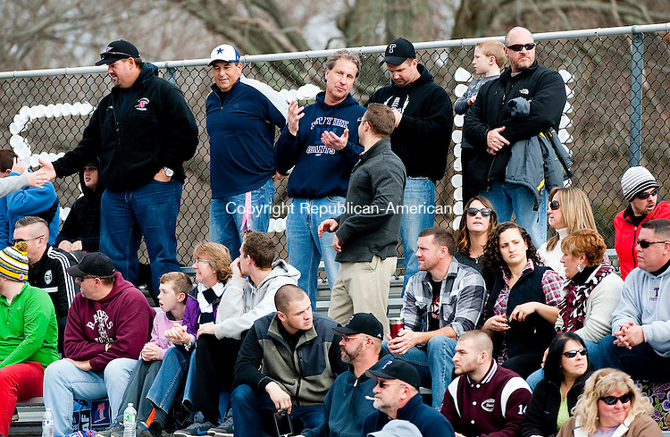 WATERTOWN, CT--- -112265JS10-A small but loyal crowed came out to cheer and support Torrington during their Thanksgiving day game against Watertown  Thursday at Watertown High School. <br /> Jim Shannon Republican-American