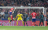 Atletico Madrid´s Uruguayan defense Diego Godin in action during the UEFA Champions League group C match between Atletico Madrid and Chelsea played at the Wanda Metropolitano Stadium in Madrid, on September 27th 2017.