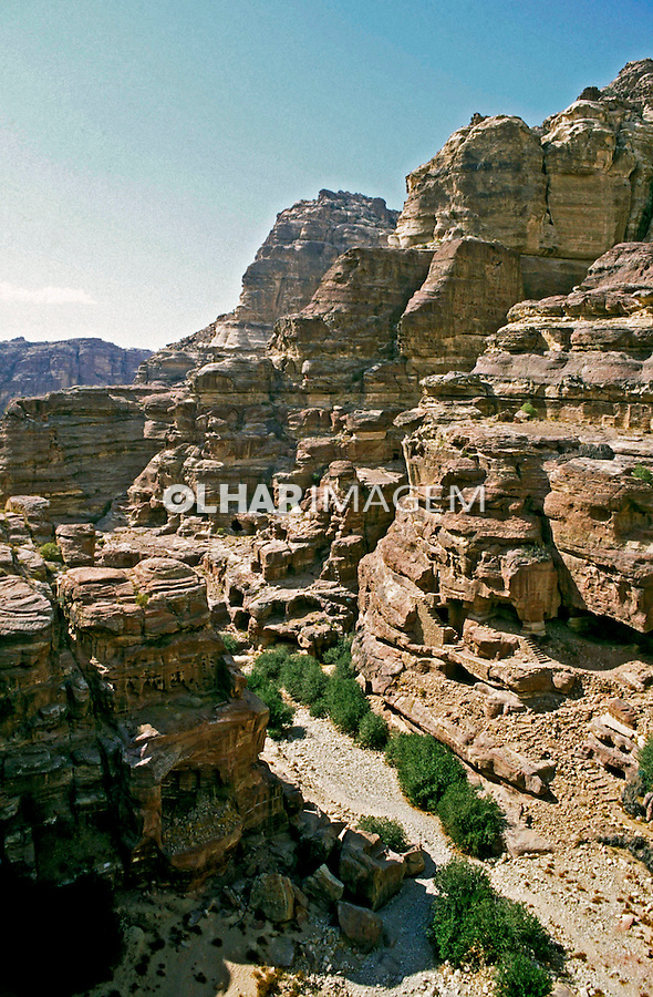 Ruínas da cidade de Petra. Jordânia. 1995. Foto de João Caldas