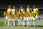 Brazil team group line-up (BRA), JUNE 28, 2014 - Football / Soccer : FIFA World Cup Brazil 2014 round of 16 match between Brazil and Chile at the Mineirao Stadium in Belo Horizonte, Brazil. (Photo by AFLO)