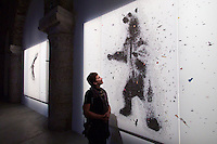 55th Art Biennale in Venice - The Encyclopedic Palace (Il Palazzo Enciclopedico).<br /> Arsenale.<br /> Bahamas exhibition.<br /> Tavares Strachan (Bahmas). &quot;Polar Eclipse&quot;, 2013.