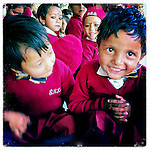 School children at the Shree Bayrayoginee Secondary School, sponsored by 10x10 partner Room to Read, in Nepal.