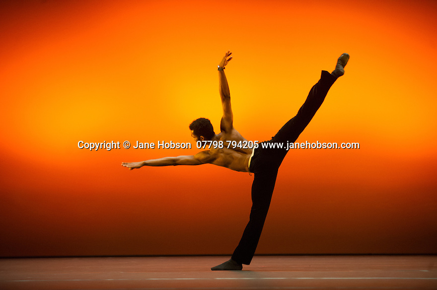 """London, UK. 19.05.2014. Winner of English National Ballet's EMERGING DANCER 2014, Junor Souza, in """"Last Minute"""", at the Lyceum Theatre, in London's West End. Photograph © Jane Hobson."""