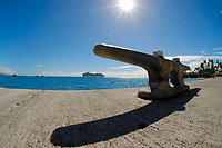 Kailua pier boat mooring, Diamond Princess cruise ship, Kailua Kona, The Big Island of Hawaii