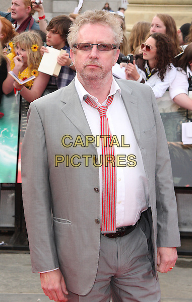 Mark Williams .at the World Premiere of 'Harry Potter and the Deathly Hallows - Part 2' at Trafalgar Square, London, England, .July 7th 2011..7 final seven arrivals half length sunglasses white shirt red tie  striped grey gray .CAP/ROS.©Steve Ross/Capital Pictures