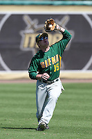 Siena Saints outfielder Ted Trymbiski #15 catches a fly ball during a game against the UCF Knights at the UCF Baseball Complex on March 4, 2012 in Orlando, Florida.  Central Florida defeated Siena 15-2.  (Mike Janes/Four Seam Images)