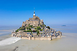 Deserted Mont Saint-Michel due to coronavirus covid-19 by Mathieu Rivrin
