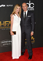 Holly Hunter &amp; Jeffrey Katzenberg at the 21st Annual Hollywood Film Awards at The Beverly Hilton Hotel, Beverly Hills. USA 05 Nov. 2017<br /> Picture: Paul Smith/Featureflash/SilverHub 0208 004 5359 sales@silverhubmedia.com