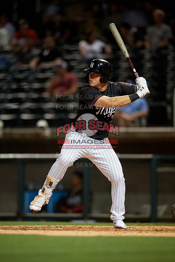 Birmingham Barons Gavin Sheets (24) at bat during a Southern League game against the Chattanooga Lookouts on May 2, 2019 at Regions Field in Birmingham, Alabama.  Birmingham defeated Chattanooga 4-2.  (Mike Janes/Four Seam Images)