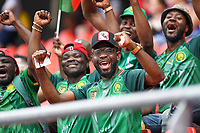 20190623 - VALENCIENNES , FRANCE : Cameroon fans and supporters pictured during the female soccer game between England – the Lionesses - and Cameroon – Indomitable Lionesses - , a knock out game in the round of 16 during the FIFA Women's  World Championship in France 2019, Sunday 23 th June 2019 at the Stade du Hainaut Stadium in Valenciennes , France .  PHOTO SPORTPIX.BE | DAVID CATRY