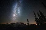 Milky Way over Mount Rainier, Mount Rainier National Park, Washington