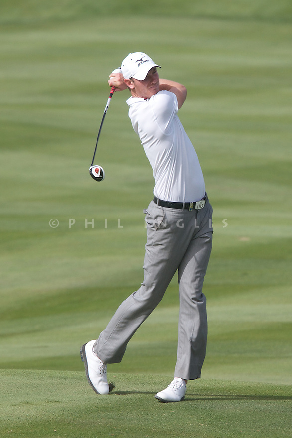 Chris Wood (ENG) in action during the first round of the 39th Trophee Hassan II played at the Golf du Palais Royal d'Agadir, Agadir, Morocco 22 - 25 March 2012. (Picture Credit / Phil Inglis)