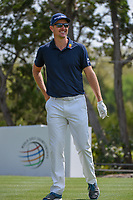 Justin Rose (GBR) shares a laugh on the tee on 2 during day 1 of the WGC Dell Match Play, at the Austin Country Club, Austin, Texas, USA. 3/27/2019.<br /> Picture: Golffile | Ken Murray<br /> <br /> <br /> All photo usage must carry mandatory copyright credit (© Golffile | Ken Murray)