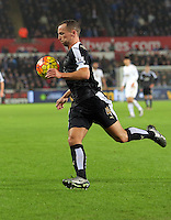 Danny Drinkwater of Leicester City during the Barclays Premier League match between Swansea City and Leicester City at the Liberty Stadium, Swansea on December 05 2015
