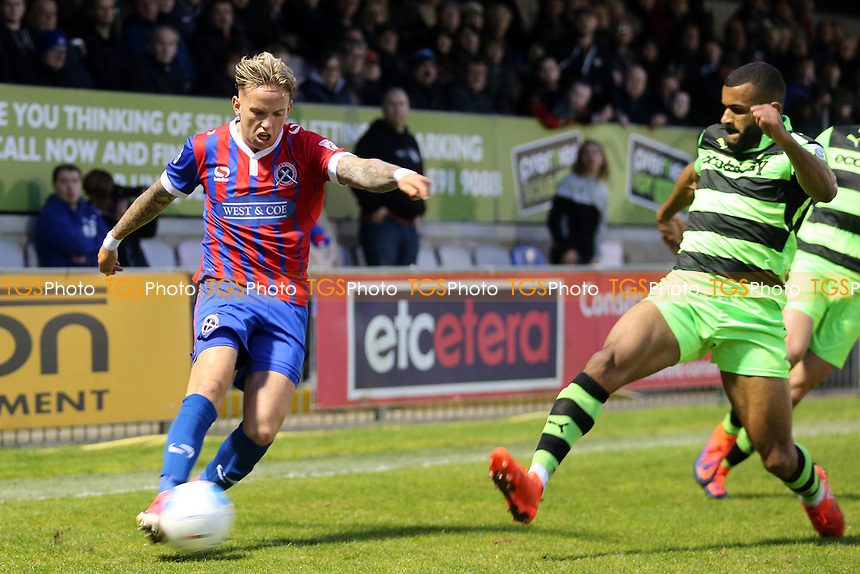 Jordan Maguire-Drew of Dagenham and Redbridge during Dagenham & Redbridge vs Forest Green Rovers, Vanarama National League Play-Off Semi-Final Football at the Chigwell Construction Stadium on 4th May 2017