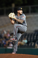 Salt River Rafters pitcher Joey Krehbiel (14), of the Arizona Diamondbacks organization, during a game against the Scottsdale Scorpions on October 12, 2016 at Scottsdale Stadium in Scottsdale, Arizona.  Salt River defeated Scottsdale 6-4.  (Mike Janes/Four Seam Images)