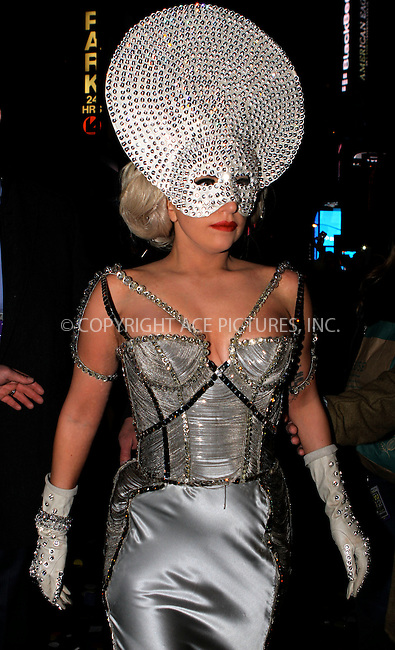 WWW.ACEPIXS.COM . . . . .  ....December 31 2011, New York City....Lady Gaga at the 2012 New Year's Eve celebrations in Times Square on December 31 2011 in New York City....Please byline: NANCY RIVERA- ACEPIXS.COM.... *** ***..Ace Pictures, Inc:  ..Tel: 646 769 0430..e-mail: info@acepixs.com..web: http://www.acepixs.com
