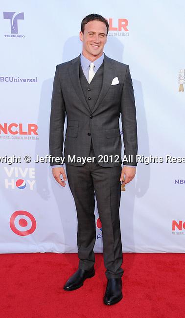 PASADENA, CA - SEPTEMBER 16: Ryan Lochte arrives at the 2012 NCLR ALMA Awards at Pasadena Civic Auditorium on September 16, 2012 in Pasadena, California.