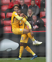 Preston North End's Daniel Johnson celebrates scoring his sides second goal <br /> <br /> Photographer Mick Walker/CameraSport<br /> <br /> The EFL Sky Bet Championship - Sheffield United v Preston North End - Saturday 22 September 2018 - Bramall Lane - Sheffield<br /> <br /> World Copyright © 2018 CameraSport. All rights reserved. 43 Linden Ave. Countesthorpe. Leicester. England. LE8 5PG - Tel: +44 (0) 116 277 4147 - admin@camerasport.com - www.camerasport.com