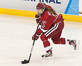 Kaitlin Spurling (Harvard - 17) - The Boston College Eagles defeated the visiting Harvard University Crimson 3-1 in their NCAA quarterfinal matchup on Saturday, March 16, 2013, at Kelley Rink in Conte Forum in Chestnut Hill, Massachusetts.