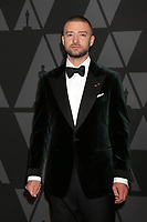 HOLLYWOOD, CA - NOVEMBER 11: Justin Timberlake at the AMPAS 9th Annual Governors Awards at the Dolby Ballroom in Hollywood, California on November 11, 2017. Credit: David Edwards/MediaPunch /NortePhoto.com