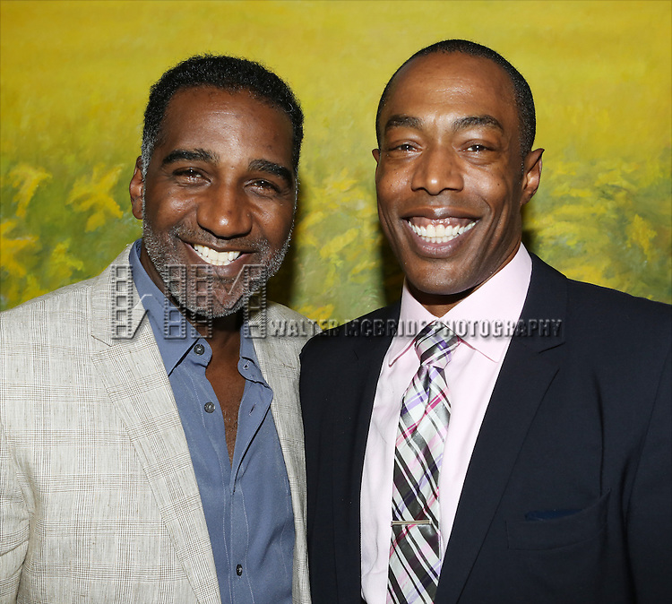 Norm Lewis and Michael McElroy attends 'Parlor Night' A benefit evening for The Broadway Inspirational Voices Outreach Program at the home of Roy and Jenny Neiderhoffer on June 22, 2015 in New York City.