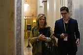 United States Senator Marsha Blackburn (Republican of Tennessee) departs the United States Capitol after the conclusion of day six in the impeachment trial of United States President Donald J. Trump in Washington D.C., U.S., on Monday, January 27, 2020.<br />  <br /> Credit: Stefani Reynolds / CNP