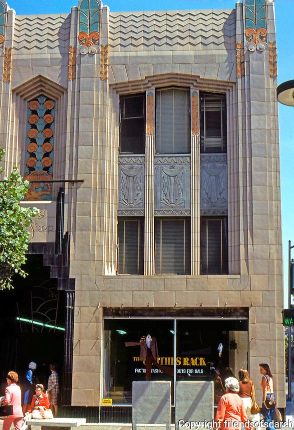 Oakland: Grey Shop, 1931. Zigzag Moderne.   Photo '78.