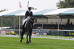 Lucy Wiegersma riding Granntevka Prince during the Dressage phase of the 2012 Land Rover Burghley Horse Trials in Stamford, Lincolsnhire