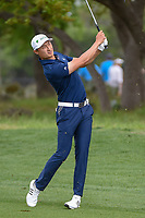 HaoTong Li (CHN) hits his approach shot on 1 during day 1 of the Valero Texas Open, at the TPC San Antonio Oaks Course, San Antonio, Texas, USA. 4/4/2019.<br /> Picture: Golffile | Ken Murray<br /> <br /> <br /> All photo usage must carry mandatory copyright credit (© Golffile | Ken Murray)