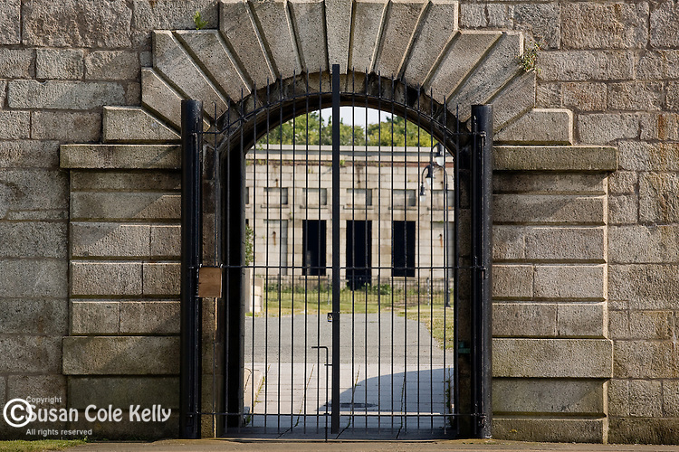 An entry gate to Fort Adams, Newport, RI, USA