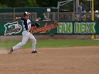 GREEN BAY - June 2015: Green Bay Bullfrogs infielder Ty Blankmeyer (0) during a Northwoods League game against the Kenosha Kingfish on June 21st, 2015 at Joannes Park in Green Bay, Wisconsin. Green Bay defeated Kenosha 10-7. (Brad Krause/Krause Sports Photography)