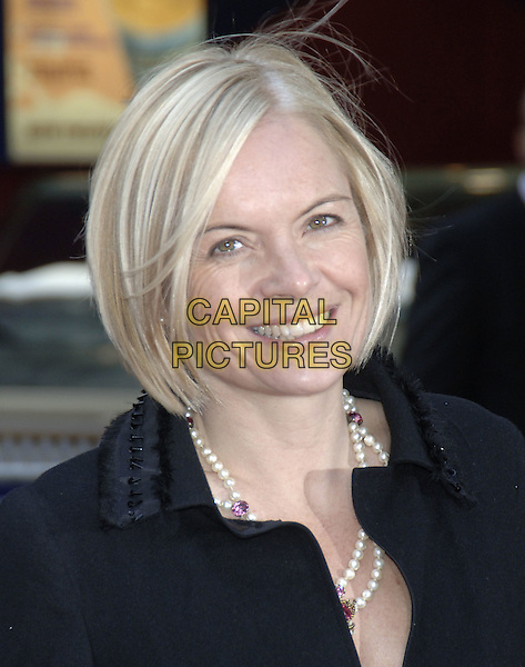 "MARIELLA FROSTRUP.""The Interpreter"" UK film premiere.Empire Cinema, Leicester Square.London 14th April 2004..portrait headshot pearls beads pearl necklace.www.capitalpictures.com.sales@capitalpictures.com.©Capital Pictures."