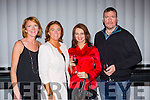 Melanie and Grace O'Donnell, Kate Wojciechowska and Damian O'Callaghan Director of The Gift at the Kerry Film festival awards in the Malton Hotel Killarney on Sunday night