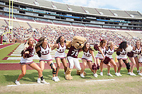 Bully and cheerleaders.<br />  (photo by Beth Wynn / &copy; Mississippi State University)