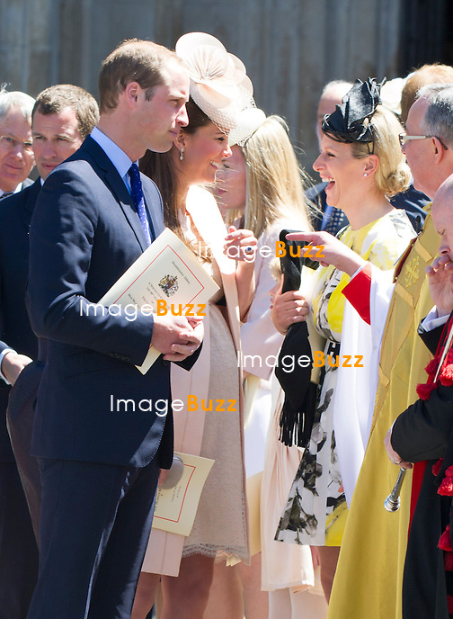 PRINCE WILLIAM AND KATE MIDDLETON<br /> joined other members of the Royal Family for  A Service to Celebrate the Queen's 60th Anniversary of the Coronation Service at Westminster Abbey, London_04/06/2013<br /> Members of the Royal Family attending the Service included The Prince of Wales and The Duchess of Cornwall, The Duke and Duchess of Cambridge, Prince Henry of Wales, The Duke of York and Princesses Beatrice and Eugenie, The Earl and Countess of Wessex and The Lady Louise Mountbatten-Windsor, The Princess Royal, Vice Admiral Sir Tim Laurence, Peter Phillips and Autumn (Kelly) Phillips, Zara (Phillips) Tindall and Mike Tindall, The Duke and Duchess of Gloucester, The Duke and Duchess of Kent, Prince and Princess Michael of Kent