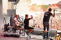 Monsters of Liedermaching beim Open Flair 2015 in Open Flair Festival Eschwege am 09.August 2015. Foto: Rüdiger Knuth