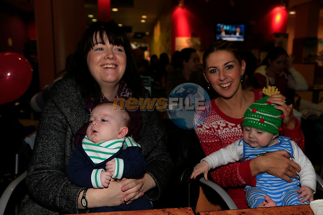 Carol And Conor Graham, Michelle Cromwell and Harvey Byrne at the Mumstown coffee morning.<br /> Picture: Fran Caffrey www.newsfile.ie