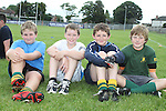 Patrick Prendergast, Thomas O'Neil, Con Halpin and Callum Kerry at the Summer Camp in Boyne Rugby Football Club...Picture Jenny Matthews/Newsfile.ie