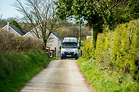 Sunday 26 March 2017<br /> Pictured: Views of the  property in Carmarthenshire  <br /> Re: Police guard a property near Trelech, Carmarthenshire in connection with the London Terrorist attacks