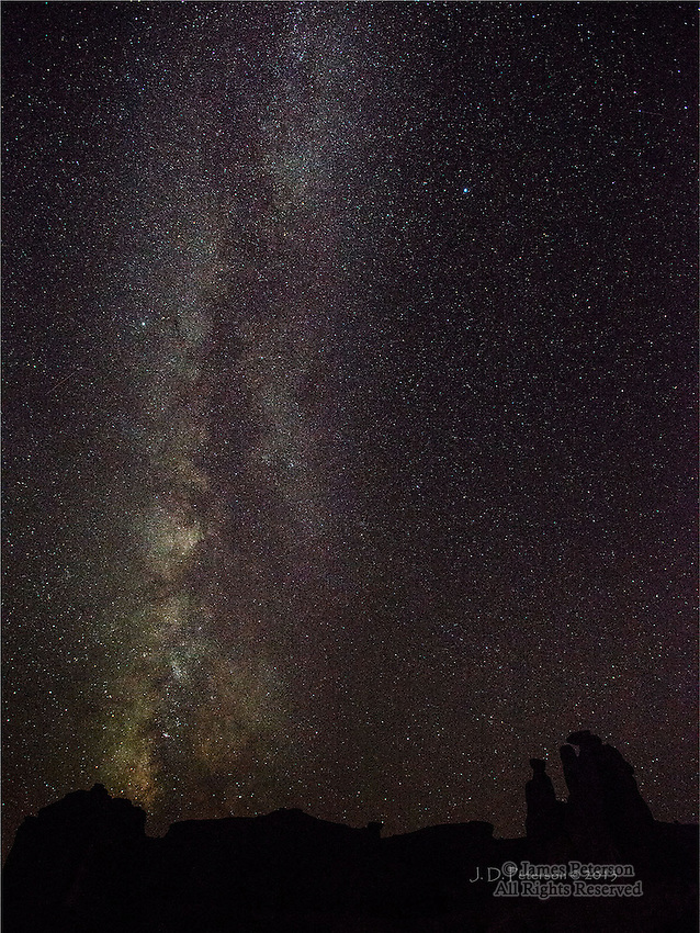 Milky Way over The Triplets, Arches National Park, Utah