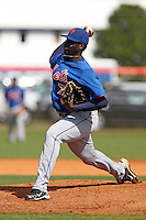 New York Mets pitcher Domingo Tapia #75 delivers a pitch during a minor league spring training intrasquad game at the Port St. Lucie Training Complex on March 27, 2012 in Port St. Lucie, Florida.  (Mike Janes/Four Seam Images)