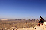 Israel, Negev, a view of Sinai from the border line