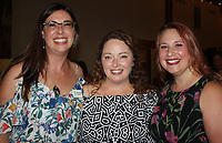 NWA Democrat-Gazette/CARIN SCHOPPMEYER Meritt Hutchison, Healing Gardens co-founder (from left), Carolyn Baltz and Alisha Gourley enjoy Seeds of Hope.
