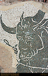 Bull and Lariat detail Baths of Caracalla East Palaestra (Greek Wrestling Room) Mosaic Aventine Hill Rome